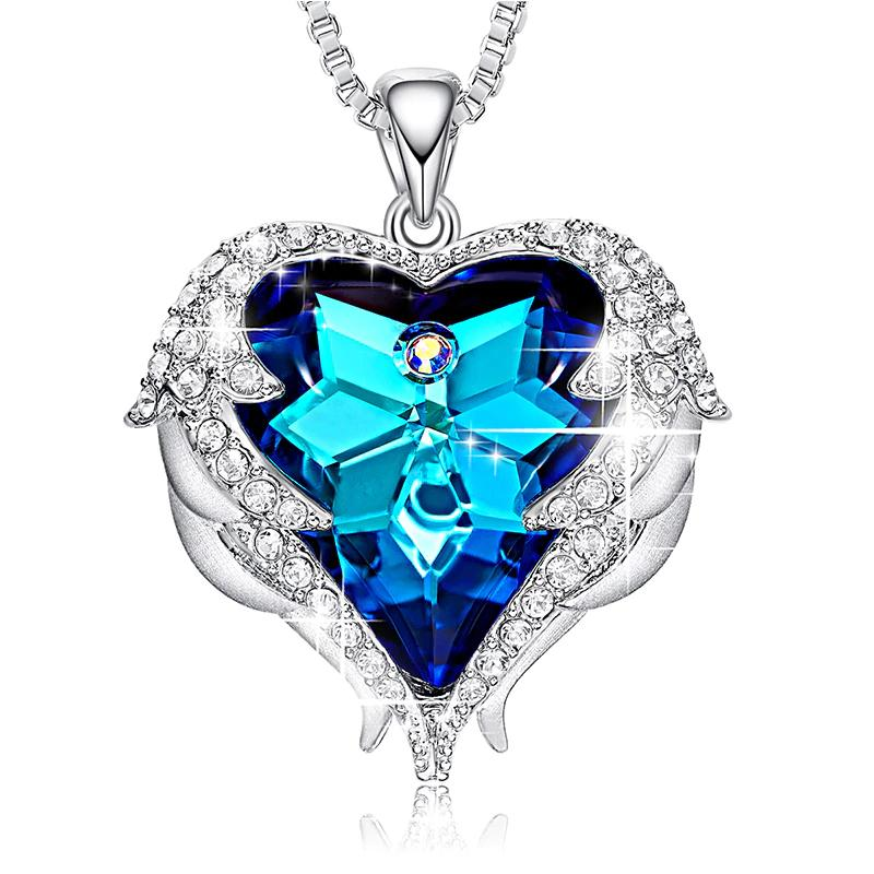 8862f10d7 Home / Shop / Fashion Accessories / Jewelry / Necklaces / Swarovski Crystal  Angel Wings Heart Pendant Necklace